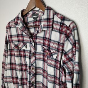 Eddie Bauer Button Down Plaid Flannel